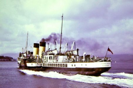 Jeanie Deans leaving Rothesay in 1958
