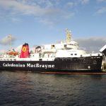 M.V. Isle of Arran arriving at Ardrossan (Allan Smith)