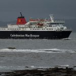 M.V. Caledonian Isles coming into Troon 21 January 2014 (Linda Raynor)