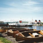 Wee boats - big ferries at Largs (Jim McIntosh)
