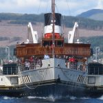 Waverley approaching Blairmore Pier (Roy Paterson)