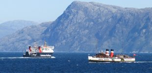 Lord of the Isles and Waverley in Sound of Sleat 2 June 2016