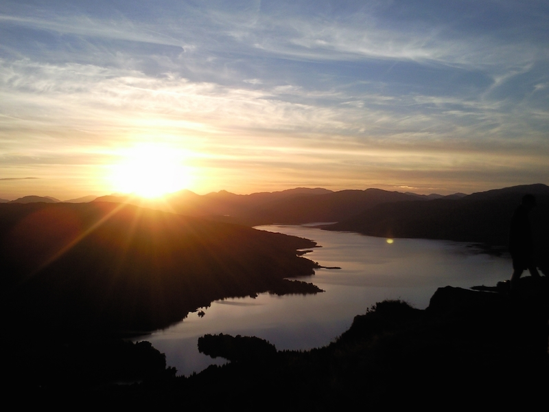 Sunset on Loch Katrine