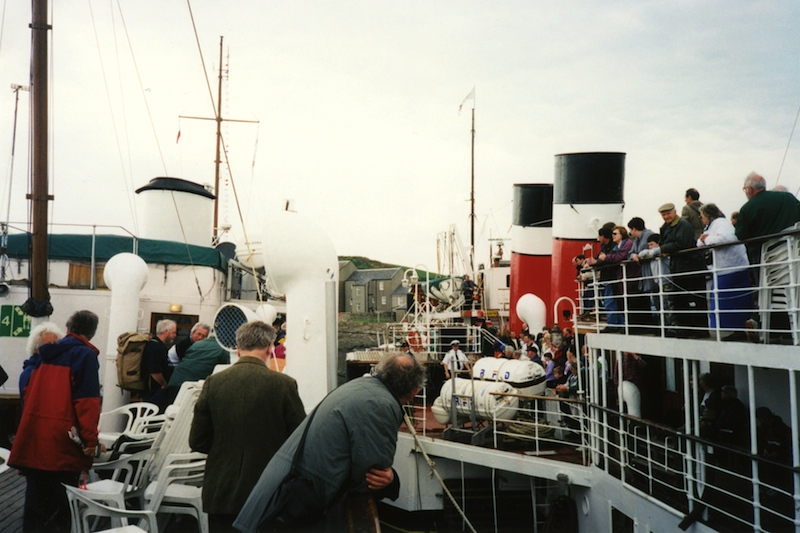 Waverley alongside Balmoral at Millport Old Pier