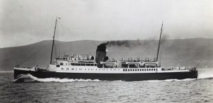 Brighton, built by Denny in 1933 for the Southern Railway, achieved 24 knots on trials on the Skelmorlie Mile -- copyright photo CRSC Archive Collection