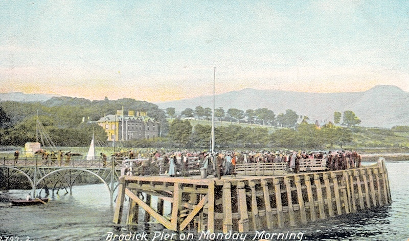 Brodick Pier c1890 -- copyright CRSC Archive Collection
