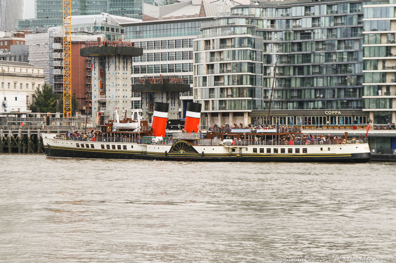 Waverley in the built-up surroundings of metropolitan London -- copyright photo Charles McCrowssan