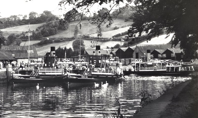 Compton Castle, Kingswear Castle and Totnes Castle at Steamer Quay, Totnes, c1955 -- copyright photo CRSC Archive Collection