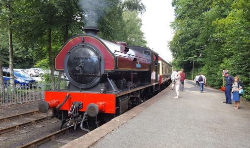 The steam engine at Lakeside station -- copyright Robin Copland