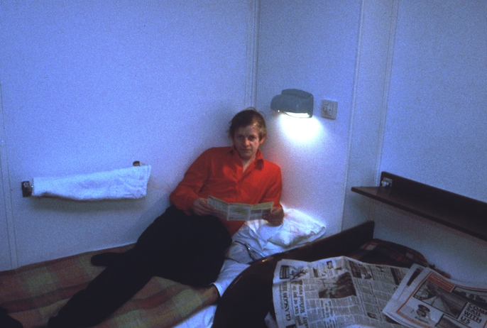 The young Terry primrose in his cabin on Columba on the night of 2 April 1988