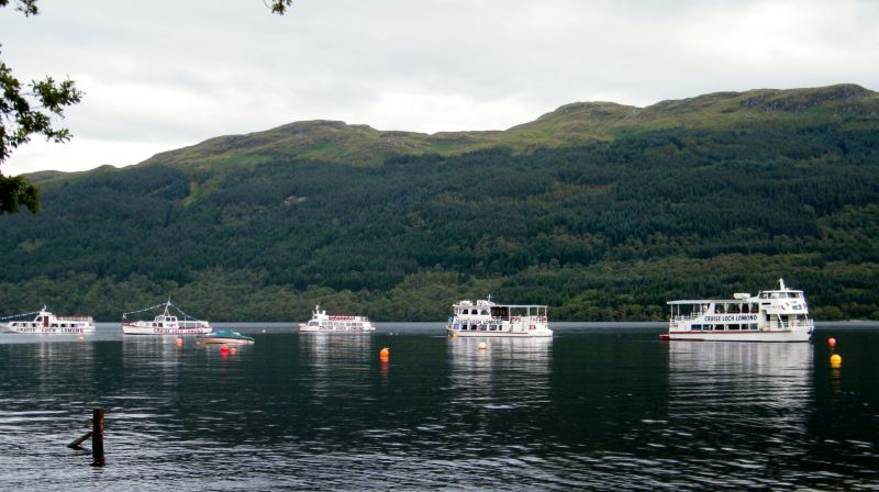 Cruise Loch Lomonds fleet at anchor -- copyright photo Rob Beale