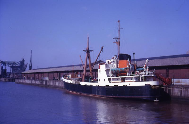 Loch Ard berthed on the north wall in Kingston Dock on 30 March 1965 -- copyright photo Eric Schofield