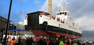 Catriona-built on the Clyde-launch day at Ferguson Marine 11 December 2015