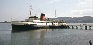 Queen Mary II at Tighnabruaich in 1974