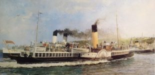 Ian Orchardson's painting of Duchess of Rothesay arriving at Rothesay in the 1930s