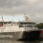 Finlaggan at Oban after arrival from delivery voyage