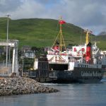 Isle of Arran berthed at the Cal-mac terminal Campbeltown 19 July 2015 (Roy Paterson)