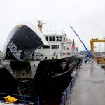 Isle of Lewis in dry-dock at Leith (Gordon Stirling)