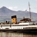 Queen Mary ll arriving at Brodick - Roy Hamilton Collection