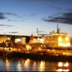 Rothesay pier at night (Kenneth Donaldson)