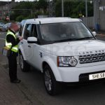 Scott collecting fares on the last day of Gourock to Dunoon Car Ferry by CalMac - 29th June 2011 (Ian D Millar)