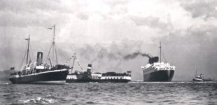 Davaar and Talisman with Queen Mary at Tail of the Bank 1936 JTA Brown Collection