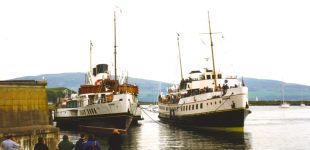 Waverley and Balmoral at Millport 16 May 1999