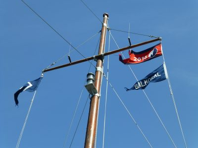 Flying the flag of National Historic Ships