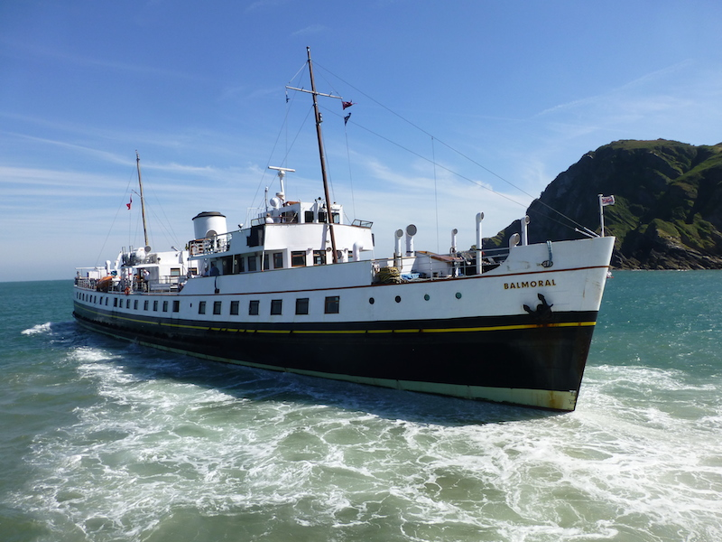 Balmoral leaving Ilfracombe in August 2016 -- copyright photo Richard Coton/CRSC