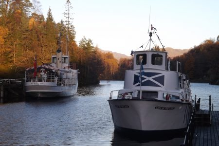 Trossachs Pier with Sir Walter Scott and Lady of the Lake