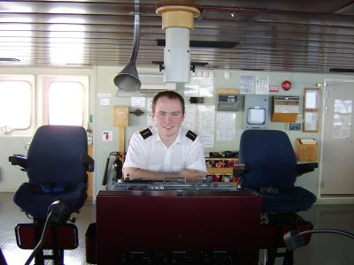 Starting out: David Howie as officer cadet