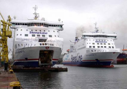 Twin sisters: Superfast VII and Superfast VIII at the Remontowa shipyard in Poland in