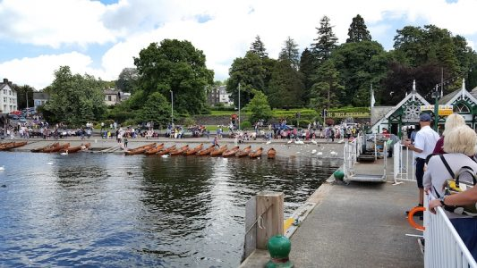Bowness beach from the pier