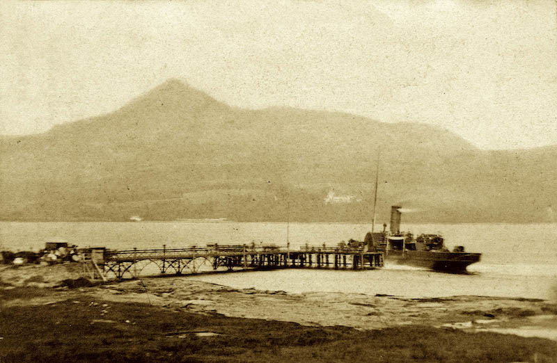 The 1870s: Heather Bell at the original wrought iron pier -- copyright Graham Lappin Collection