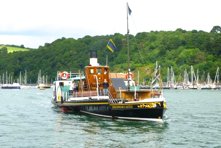 The last remaining coal-fired paddle steamer in operation in the UK -- copyright photo Robin Copland