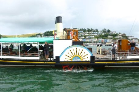 Kingswear Castle's bright paddle box -- copyright Robin Copland