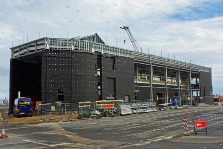 September 2016: the new terminal building takes shape -- copyright Eric Schofield