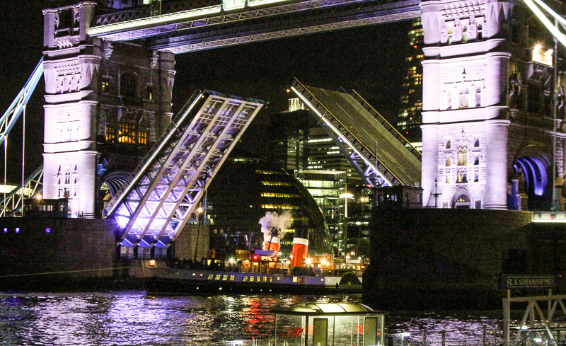 Passing beneath Tower Bridge remains one of Waverley's most exhilarating performances