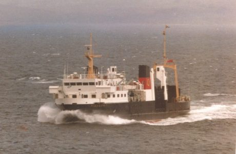 Favourite steamer: Lawrences classic portrait of Pioneer off Mallaig on 22 June 1979 -- copyright photo Lawrence Macduff
