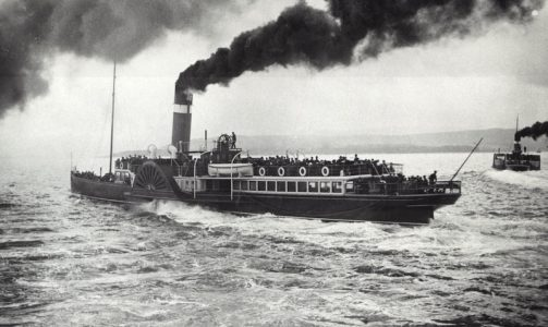 Redgauntlet sets off from Craigendoran, with Lucy Ashton to the right -- copyright photo CRSC Archive Collection