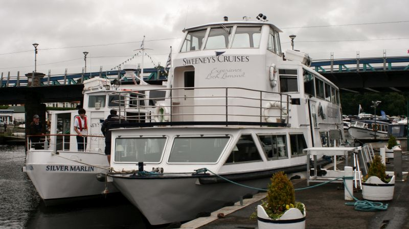 Silver Marlin and Silver Dolphin at Balloch -- copyright photo Rob Beale