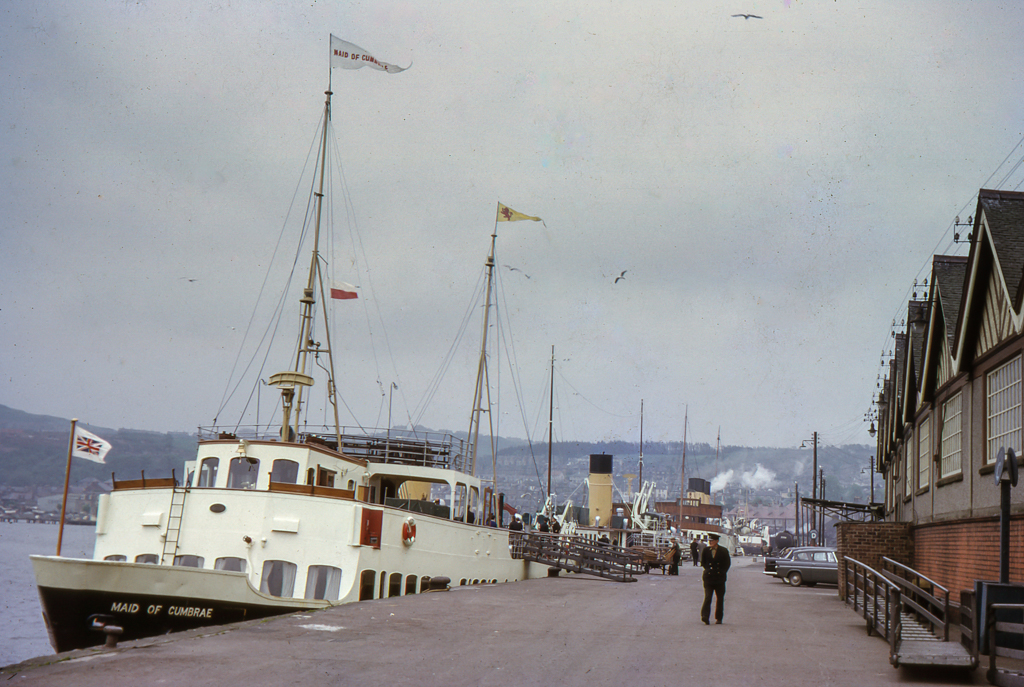 Maid of Cumbrae lies at Gourock in May 1964 -- copyright CRSC Robin Boyd collection